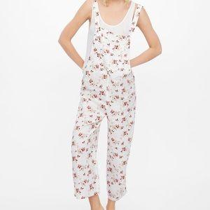 NWT Zara Floral Linen Overalls